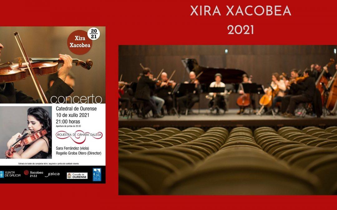 Presentación Xira Xacobea  y Concerto Catedral de Ourense, día 10 de Xullo de 2021.